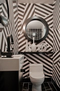 ARTICLE + GALLERY | Could You Handle These CRAZY Walls?! | Image Source:  Enzy Living  | CLICK TO ENJOY... http://carlaaston.com/designed/crazy-wall-inspiration | (KWs: wall, paint, wallpaper, Kelly Wearstler, art, color)