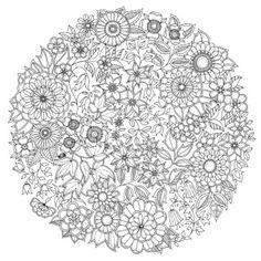 Coloriage Antistress Adulte Rosace De Fleur