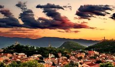 Plovdiv, Bulgaria...my hometown...called the town of the 7 hills...I think the picture explains Y...