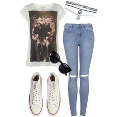 Sem título #289 by ericacarminatti on Polyvore featuring moda, AllSaints, Topshop, Converse and Wet Seal