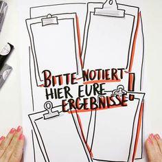 """Gefällt 76 Mal, 2 Kommentare - Sandra Dirks (@sandradirks_de) auf Instagram: """"Mini - Flipchartkurs - So zeichnest du ein Klemmbrett und strukturierst dein Flipchart Endlich…"""""""