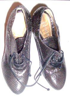 Vintage Dorotea Ladies Snakeskin Leather High Heels Made In Spain SZ 6.5