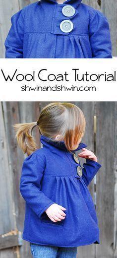 Wool Coat Tutorial || Shwin&Shwin  URL : http://amzn.to/2nuvkL8 Discount Code : DNZ5275C