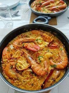 ARROZ MELOSO CON SEPIA Y GAMBAS Easy Cooking, Cooking Recipes, Healthy Recipes, Delicious Recipes, Colombian Cuisine, Tapas, Deli Food, Seafood Dinner, Portuguese Recipes