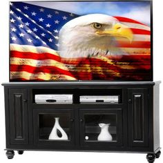 AmericanHeartland Deluxe TV Stand Finish: European Dusty White
