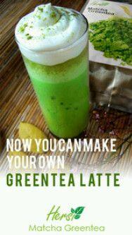 Make your own greentea latte