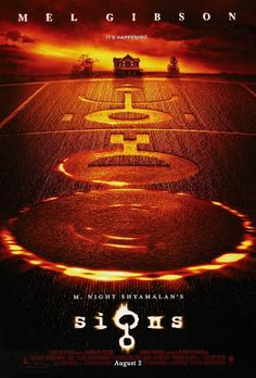 Signs - Directed by M. With Mel Gibson, Joaquin Phoenix, Rory Culkin, Abigail Breslin. A family living on a farm finds mysterious crop circles in their fields which suggests something more frightening to come. All Movies, Sci Fi Movies, Scary Movies, Great Movies, Movies To Watch, Movies Online, All Horror Movies, Amazing Movies, Signs