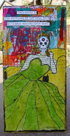 Day of the Dead Collage by nikimaki, #catrina #dia de los Muertos