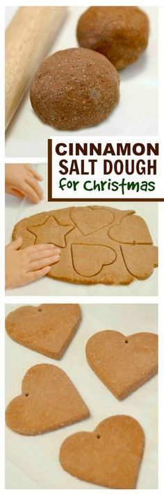 NO COOK CINNAMON SALT DOUGH- the easiest way to make cinnamon ornaments for the tree!