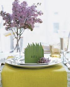 Grassy place card, Martha Stewart