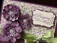 Stampin' Up!  Paper Flowers  Connie Collins