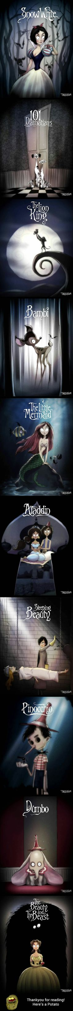 If the Disney movies were designed by Tim Burton