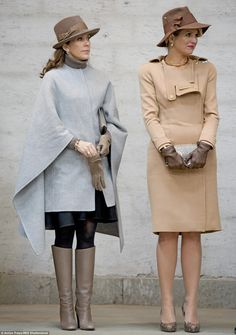 dailymail: Crown Princess Mary and Queen Maxima Princesa Mary, Mary Donaldson, Danish Royalty, Royal Look, Danish Royal Family, Crown Princess Mary, Queen Maxima, Royal Fashion, Queen Mary