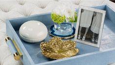 Set of 4 Azure Blue Agate Coasters - LuxDeco.com