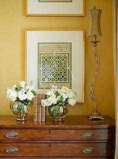 Interior Design Yellow Accent Walls, Mustard Yellow Walls, Mellow Yellow, Beautiful Interiors, Colorful Interiors, Beautiful Homes, Decorating Your Home, Interior Decorating, Interior Design
