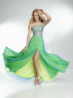 Otro A-line/Princess Abalorio Solo Hombro Sin Mangas Floor-length Gasa Dress por € 589,71