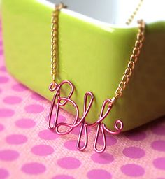 Quiet Lion Creations: Gauge Inc BFF Necklace--- could this be done with YANA