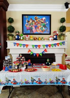 "It was Mario madness at this Mario Kart themed birthday party including a bounce house, ""Pin the Mustache on Mario"" game, and an appearance from Mario himself."