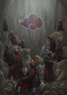 Itachi Uchiha (うちはイタチ), Kisame Hoshigaki (干柿鬼鮫), Sasori (サソリ), Hidan (飛段), Deidara (デイダラ), Kakuzu (角都), Obito Uchiha (うちはオビト) / Tobi (トビ), Zetsu (ゼツ), Konan (小南) & Yahiko (弥彦) / Pain (ペイン) | Akatsuki (暁) | NARUTO (ナルト)