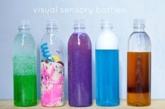 Considering making for Pilar, but with non toxic material. Creating Visual Sensory Bottles | Hellobee