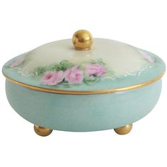 Pre-Owned Austrian Porcelain Box (€86) ❤ liked on Polyvore featuring home, home decor, decorative accessories and floral home decor