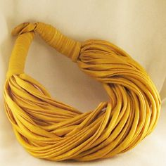 20 Off Sale  Gold Spaghetti Scarf Necklace  by Chiffoniertreasures