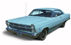 1967 Ford Fairlane 500  My first car, mine was a Silver/blue, 289 V-8 engine.  I had it from age 16 to 18, 1969-1971