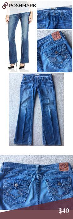 "BIG STAR REMY LOW RISE BOOT CUT DENIM JEANS 32 L BIG STAR REMY LOW RISE BOOT CUT DENIM JEANS SZ 32L - 98% COTTON 2% LYCRA. 36"" waist 9"" rise 33"" inseam Big Star Jeans Boot Cut"