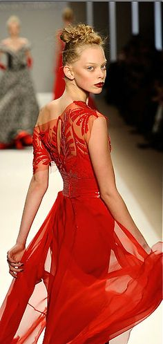Georges Chakra - red dress - 2010