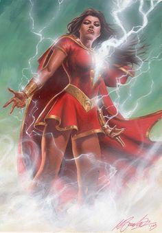 Is she Mary Shazam now? They don't use the Marvel surname; it's Billy Shazam, Mary Shazam Captain Marvel Shazam, Marvel Dc, Marvel Comics, Shazam Comic, Original Captain Marvel, Marvel Wolverine, Batman Returns, Batman Vs Superman, Rogue Comics