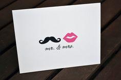 Wedding Thank You Cards / Bridal Shower Thank por itsybitsypaper