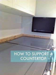 How To Support A Laundry Room Countertop Over Washer And Dryer