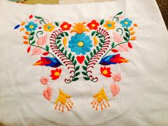 PROGRESS - 6 Nov 2014 Napkins, Embroidery, Tableware, Needlepoint, Dinnerware, Towels, Dinner Napkins, Tablewares, Dishes