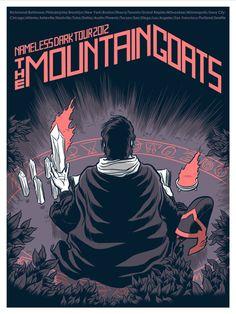 The Mountain Goats - Tour Poster - Robert Wilson Iv