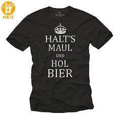 Coole T-Shirts mit witzigen Sprüchen HALTS MAUL HOL BIER schwarz Männer XXL - T-Shirts mit Spruch | Lustige und coole T-Shirts | Funny T-Shirts (*Partner-Link)