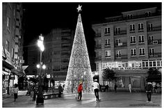 Vilagarcía Christmas Spain, Tower, Street View, Building, Travel, Christmas, Arosa, Xmas, Viajes