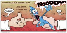 Medcomic: Pen the Doctor Borrowed - http://gomerblog.com/2016/07/pen-syndrome/?utm_source=PN&utm_campaign=DIRECT - #Cartoon, #Pen