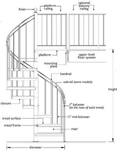 An outdoor spiral staircase is a stunning deck addition. Enhance your outdoor space with a deck spiral staircase installed by our Minneapolis deck builders. Spiral Stairs Design, Staircase Design, Stair Design, Staircase Drawing, Stair Layout, Round Stairs, Steel Stairs, Stair Detail, Deck Builders