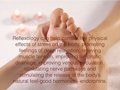 Reflexology to Help Stress and Anxiety Foot Reflexology Benefits, Reflexology Massage, Massage Benefits, Chronic Stress, Stress And Anxiety, Physical Effects Of Stress, Message Therapy, Spa Quotes, Trigger Point Massage