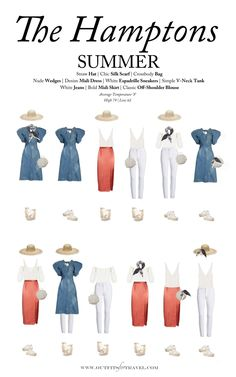 Lit Outfits, Capsule Outfits, Capsule Wardrobe, Fashion Outfits, Travel Outfits, Denim Midi Dress, White Midi Dress, Hamptons Fashion, The Hamptons