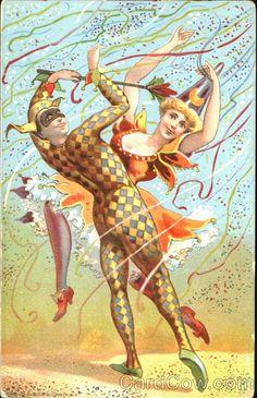 October | celebrate | dance in the fall air like Harlequin & Columbine ♡