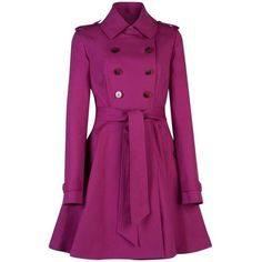 Ted Baker Double Breasted Trench Coat, Fuchsia and other apparel, accessories and trends. Browse and shop related looks.