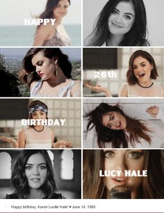Happy birthday Lucy Hale!!! June 14th