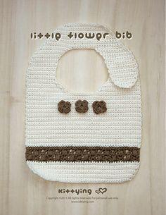 Ravelry: Little Flower Bib Crochet Pattern by Kittying.com pattern by Kittying Ying