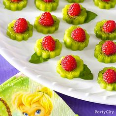 garden themed birthday party - directions here: http://www.flannerys.com.au/recipes/post/kiwi-fruit-flowers