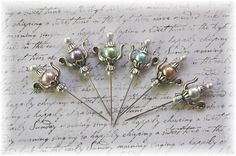 Teapot Stick Pin Light Collection  for by LittleScrapShop on Etsy, $8.99