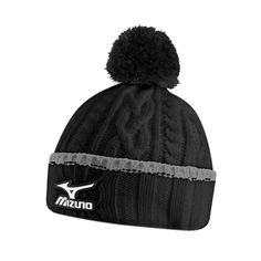 581320cbb28 Mizuno Golf Waterproof Cable Knit Bobble Hat Black One Size Fit All Golf  Waterproofs