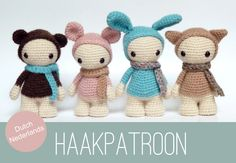 DUTCH / NEDERLANDS Amigurumi crochet  pattern of door CreepyandCute, €6,50