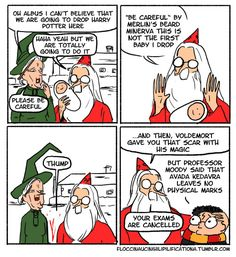 Or that he was really pretty cavalier about Harry's safety in general. | These Hilarious Harry Potter Comics Show How Irresponsible Dumbledore Was