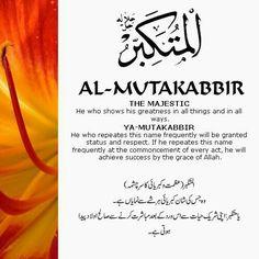 10 Al Mutakabbir (The Greatest)